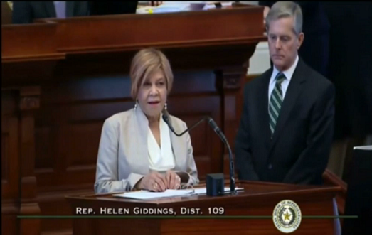 Texas Rep. Helen Giddings Denounces Hate, Calls for Moment of Silence in House Chamber