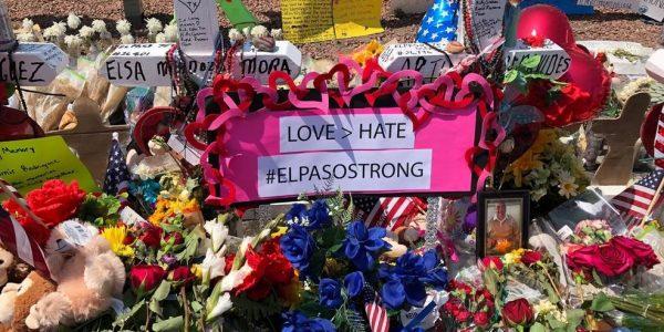 Memorial at El Paso shooting site
